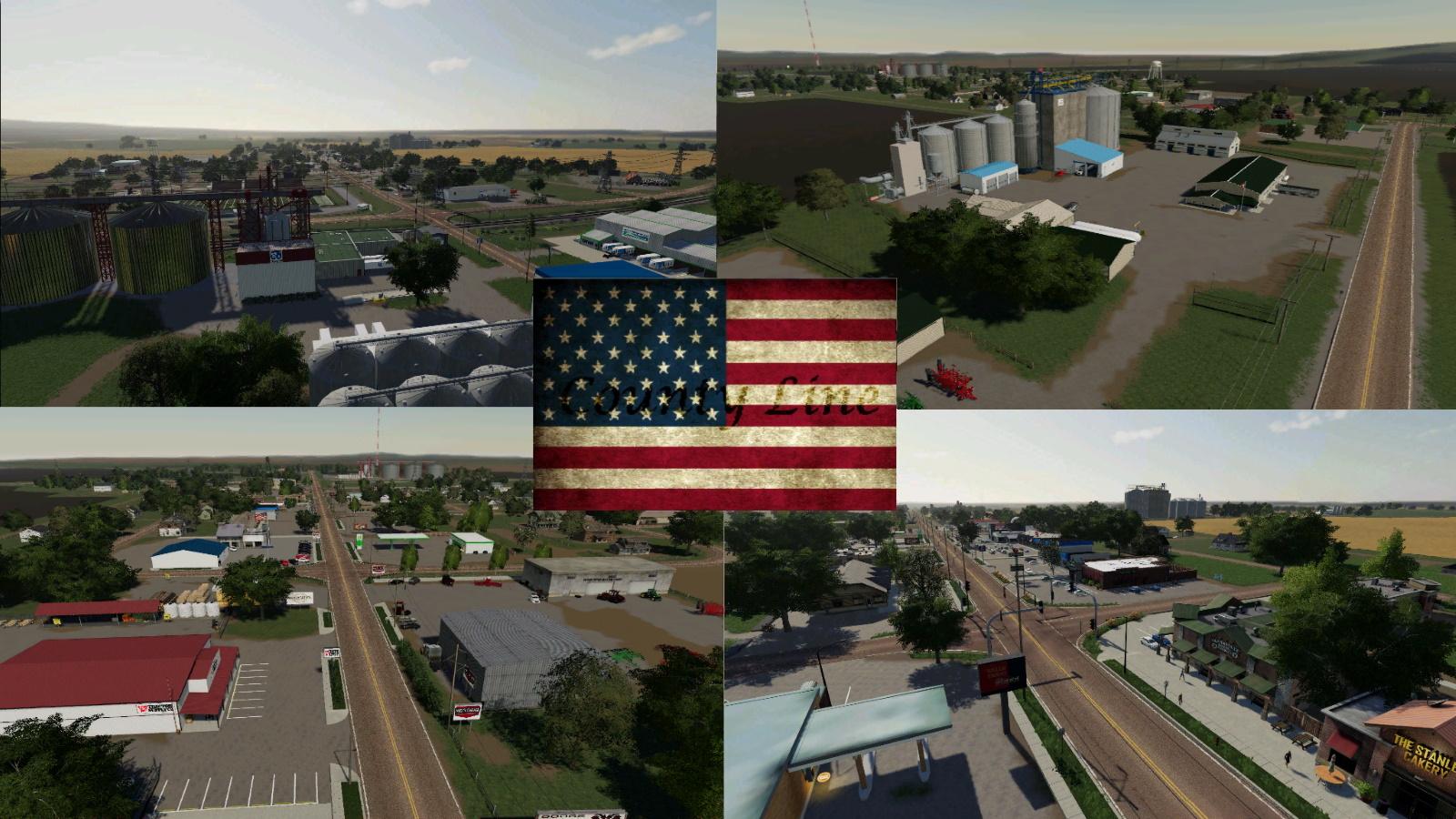 Карта Среднего Запада США для Farming Simulator 2019