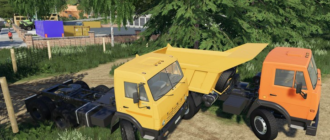Мод на КамАЗы-55111 для Farming Simulator 2019