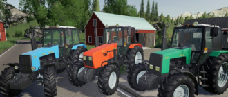 Мод на трактор МТЗ-1221 для Farming Simulator 2019