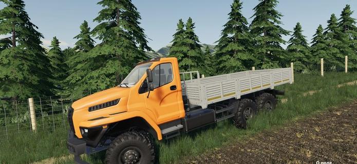 Мод на Ural Next 6×6 Flatbed для Farming Simulator 2019