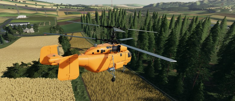 Мод на вертолет KA 27 Helicopter для Farming Simulator 2019