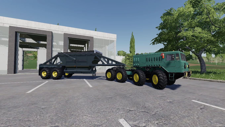 Тягач МАЗ Trailer v1.0 для Farming Simulator 2019