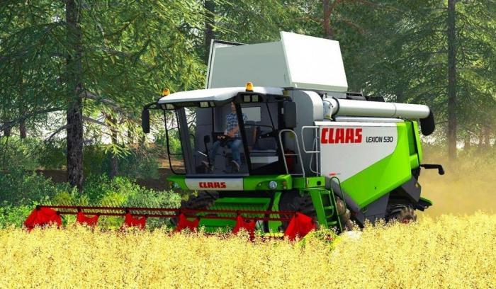 Мод на комбайн Claas Lexion 530 HTP для Farming Simulator 2019
