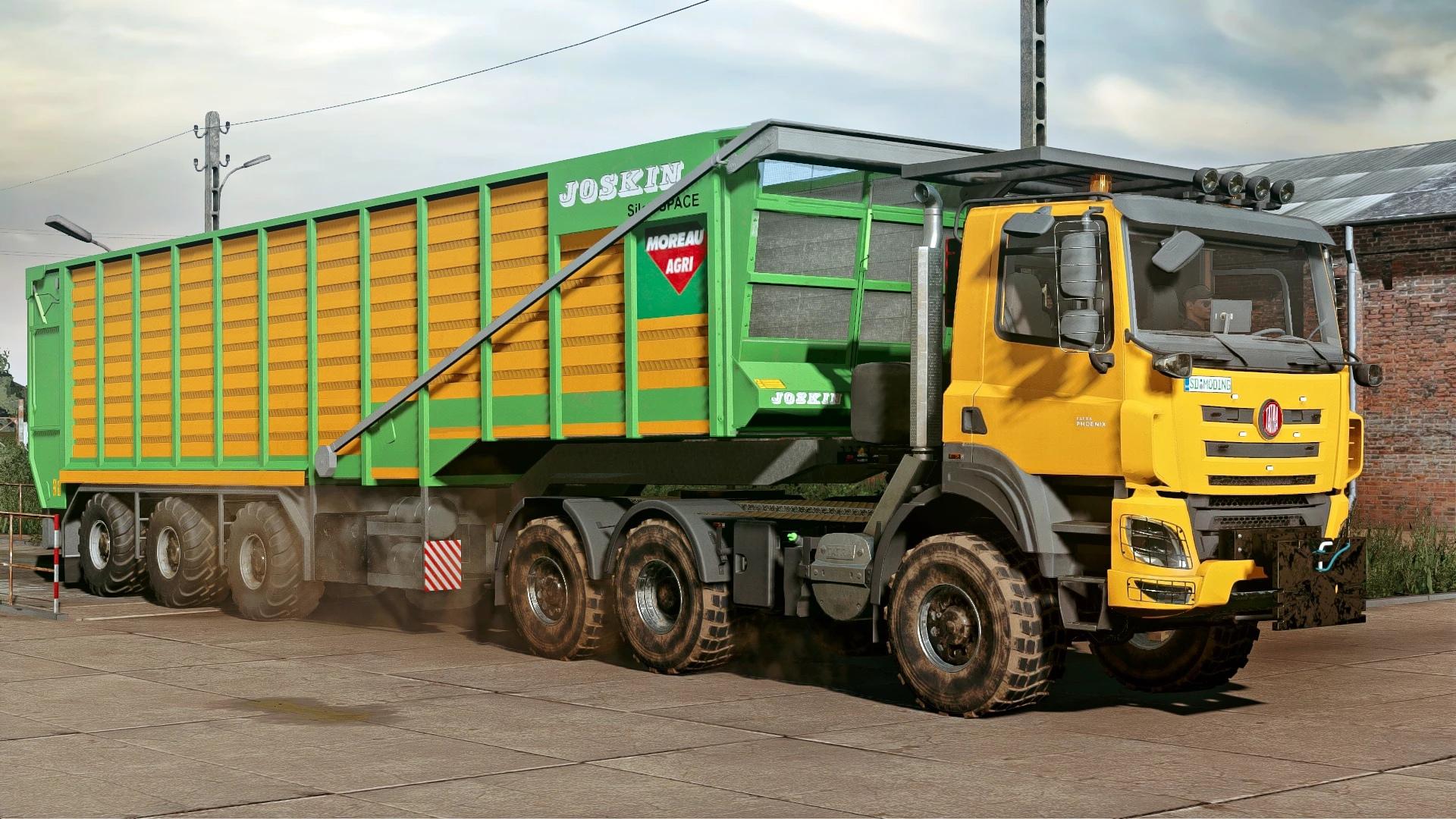 Tatra E6 и прицеп Joskin Silospace для FS 2019