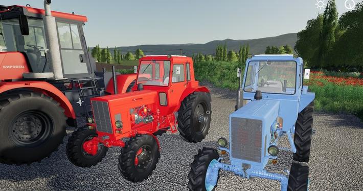 Мод на трактора MTZ 82/82 Turbo для Farming Simulator 2019