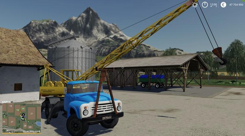 Мод на кран ЗИЛ-130 для Farming Simulator 2019