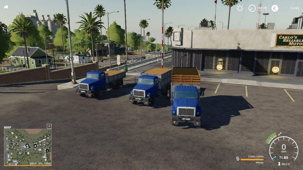 Мод на грузовик ГАЗ-3307 для Farming Simulator 2019