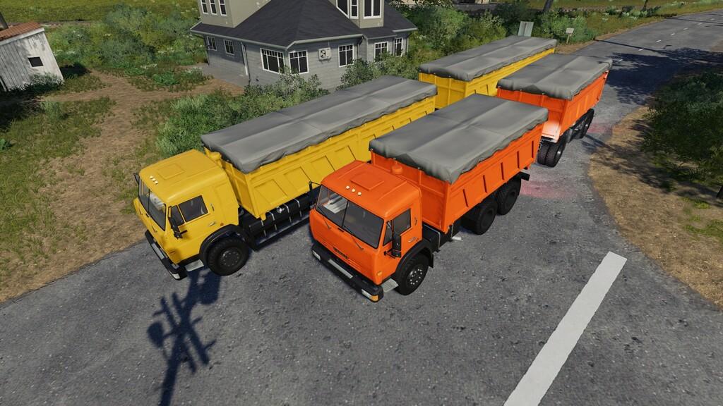 Мод на Камаз зерновоз для Farming Simulator 2019
