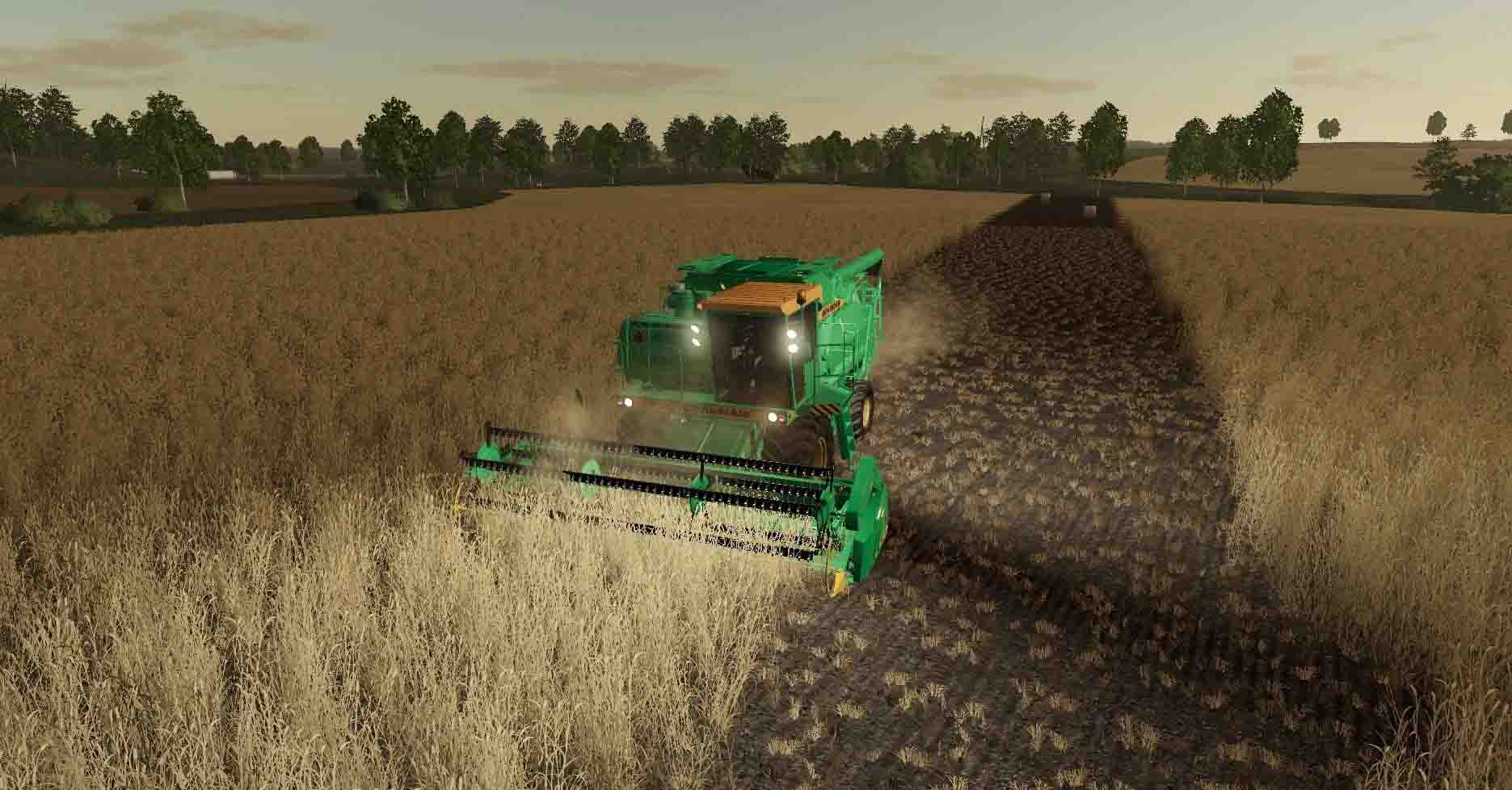 Мод на обновленный комбайн ДОН 1500Б для Farming Simulator 2019