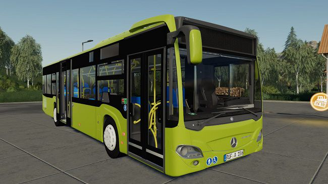 Мод на автобус Mercedes Benz Citaro для Farming Simulator 2019