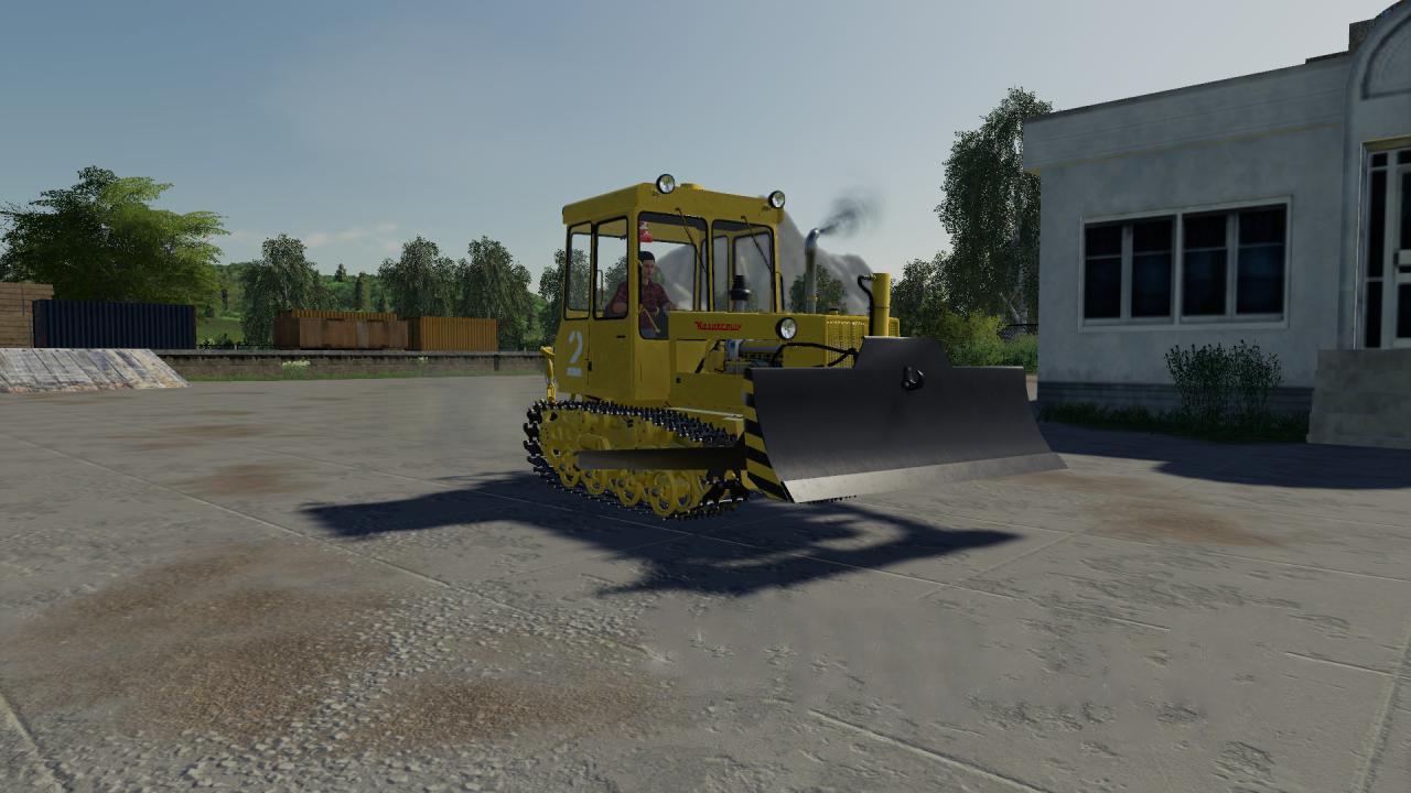 Мод на гусеничный трактор ДТ-75МЛ для Farming Simulator 2019