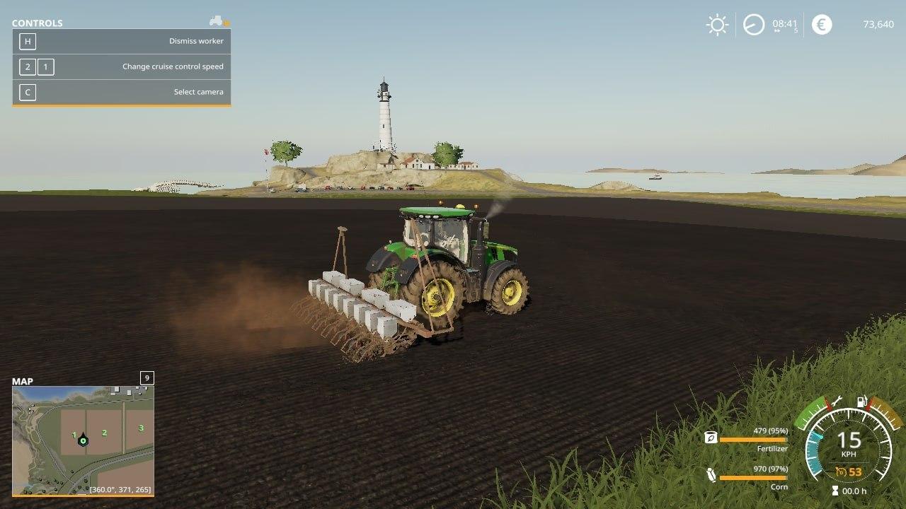 Мод на сеялку СУПН 8 для Farming Simulator 2019