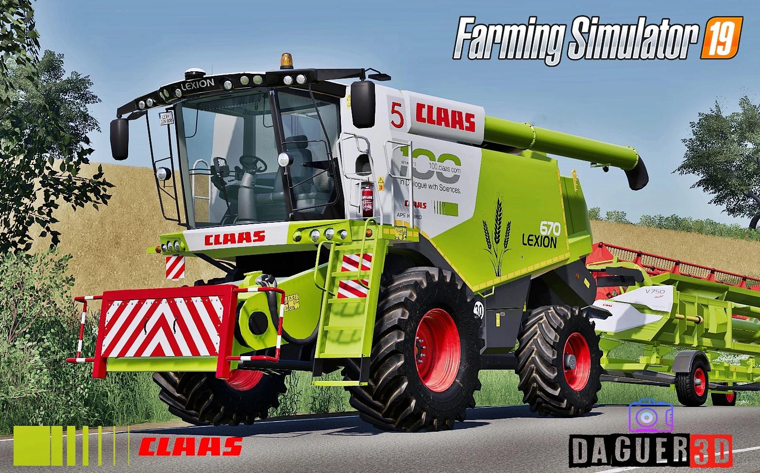 Мод на комбайн Claas Lexion 600 Series для Farming Simulator 2019