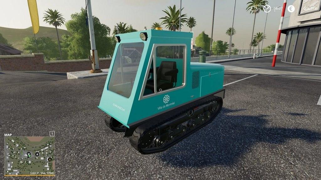 Тротуарный снегоочиститель для Farming Simulator 2019