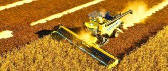 Мод на комбайн NEW Holland CR1090 для Farming Simulator 2019