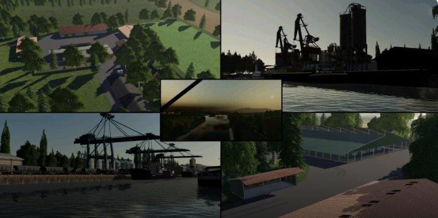 Карта деревушка в Германии для Farming Simulator 2019