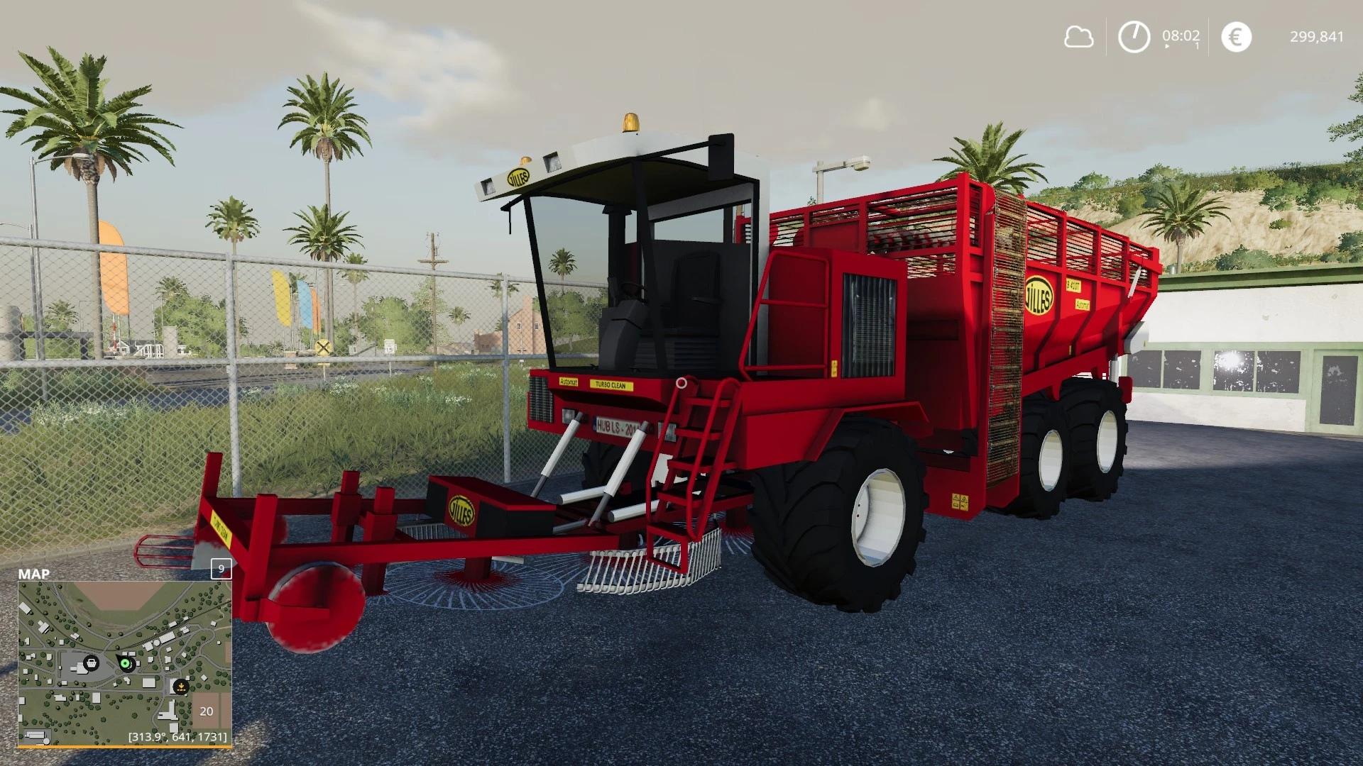 Мод на свекольный комбайн для Farming Simulator 2019