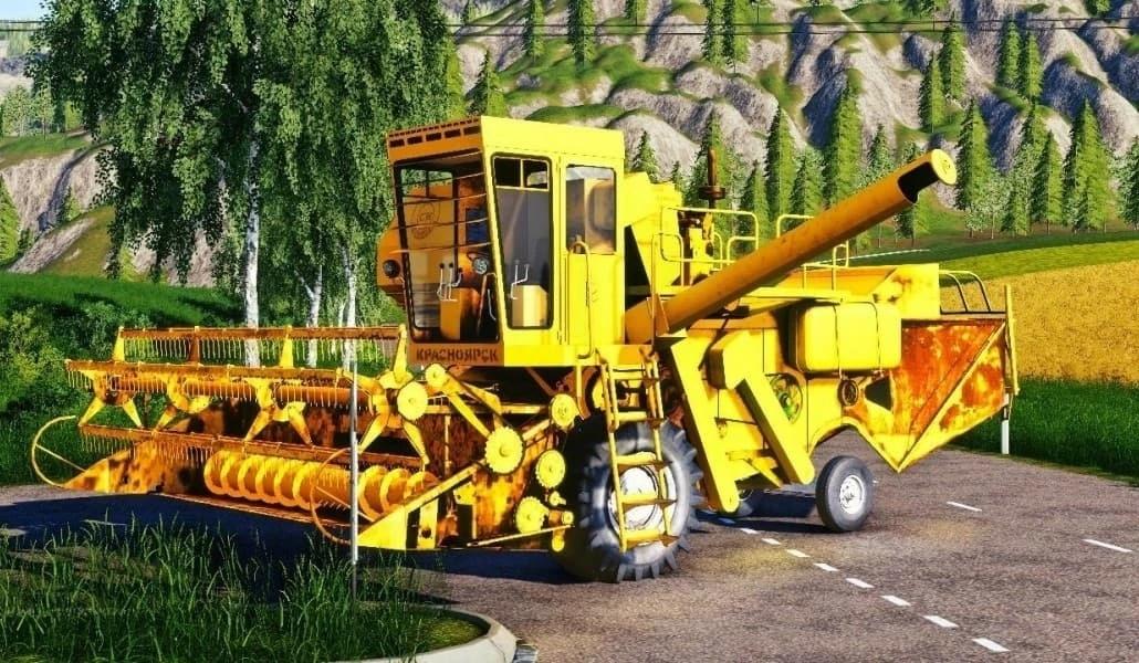 "Мод на комбайн ""Енисей 1200-1"" для Farming Simulator 2019"