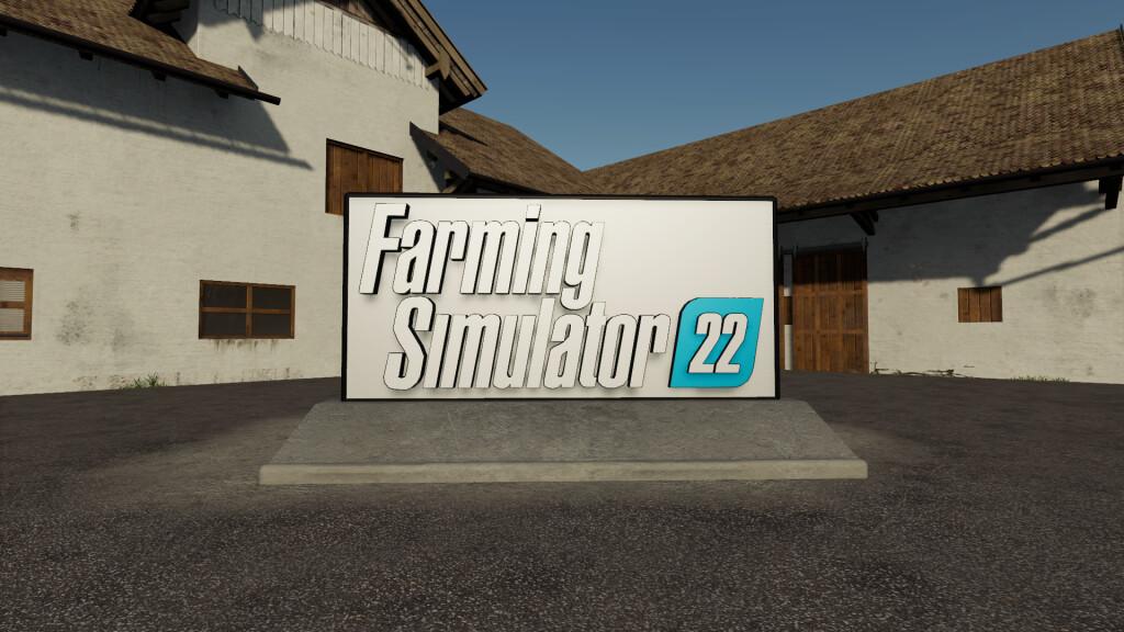 Мод на рекламный баннер для Farming Simulator 2019