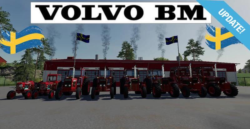 Мод-пак тракторов Volvo BM Farming Simulator 2019