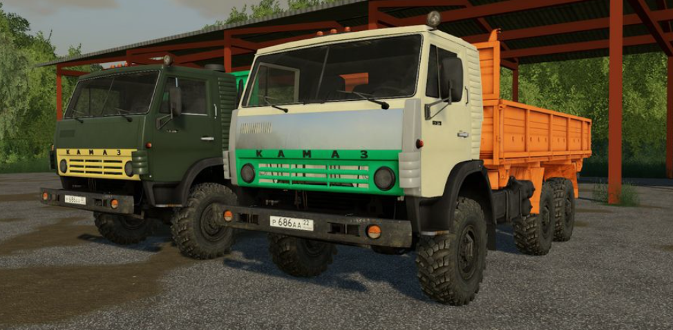 Мод на грузовик Камаз 4310 для Farming Simulator 2019