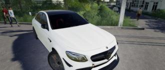 Мод на Mercedes Benz E63S AMG 2018 для Farming Simulator 2019