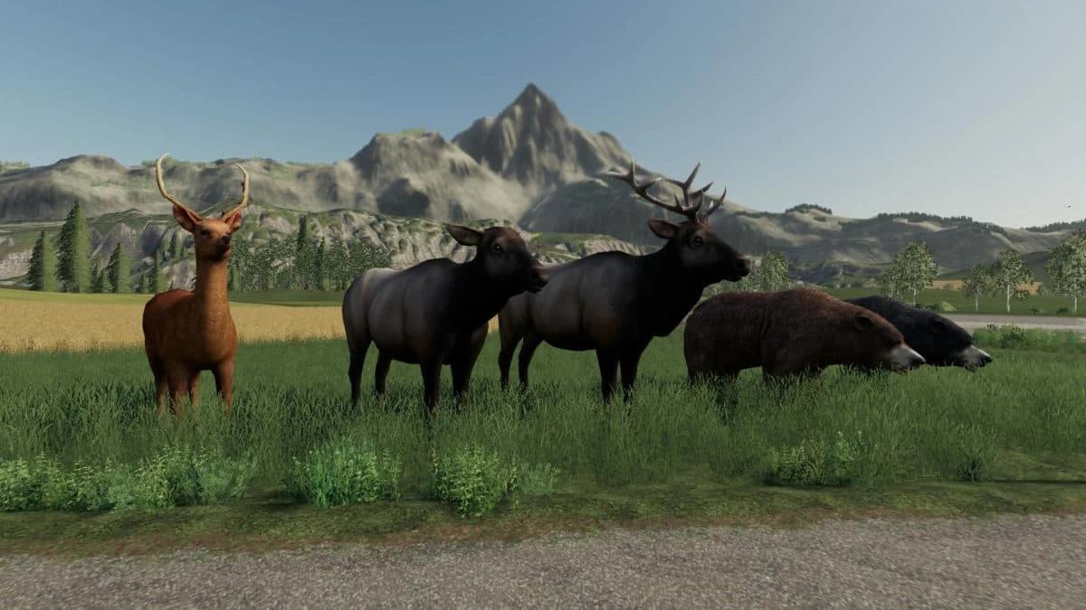 Мод на диких животных для Farming Simulator 2019