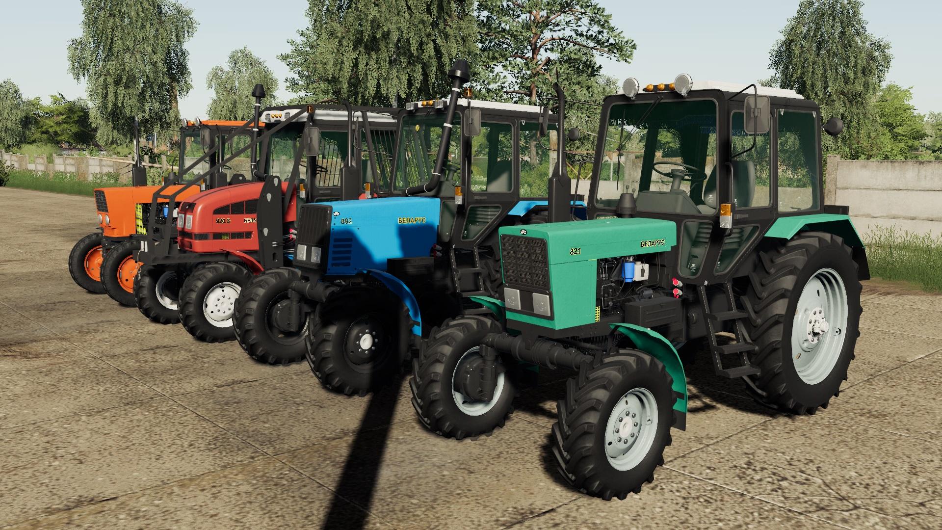 Мод на трактор МТЗ-82/892/902 ЮМЗ для Farming Simulator 2019