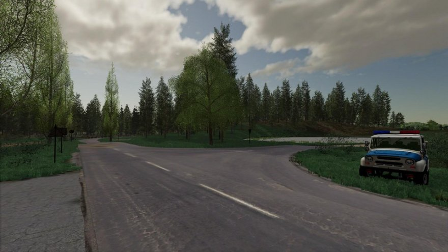 Мод на карту Зеленая долина для Farming Simulator 2019
