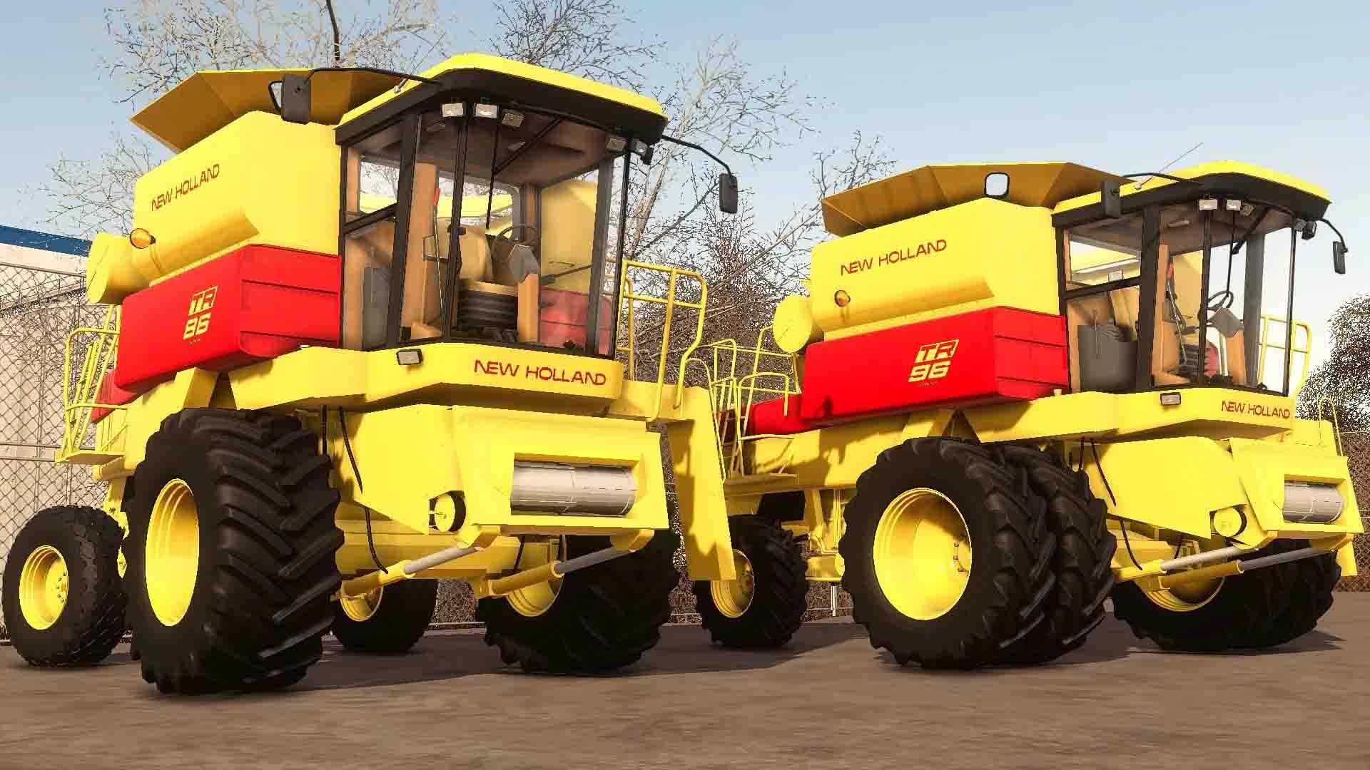 Мод пак на комбайны New Holland TR5,6 для Farming Simulator 2019