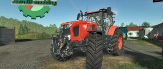 Мод на средний трактор Kubota m7 для Farming Simulator 2019