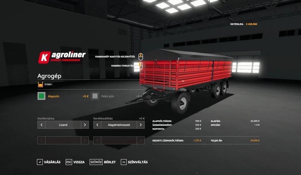 Мод на прицепы Agrogep и Oehler для Farming Simulator 2019