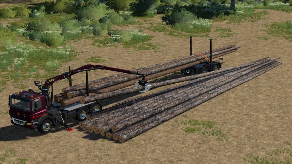 Мод на длинномерный брус для Farming Simulator 2019