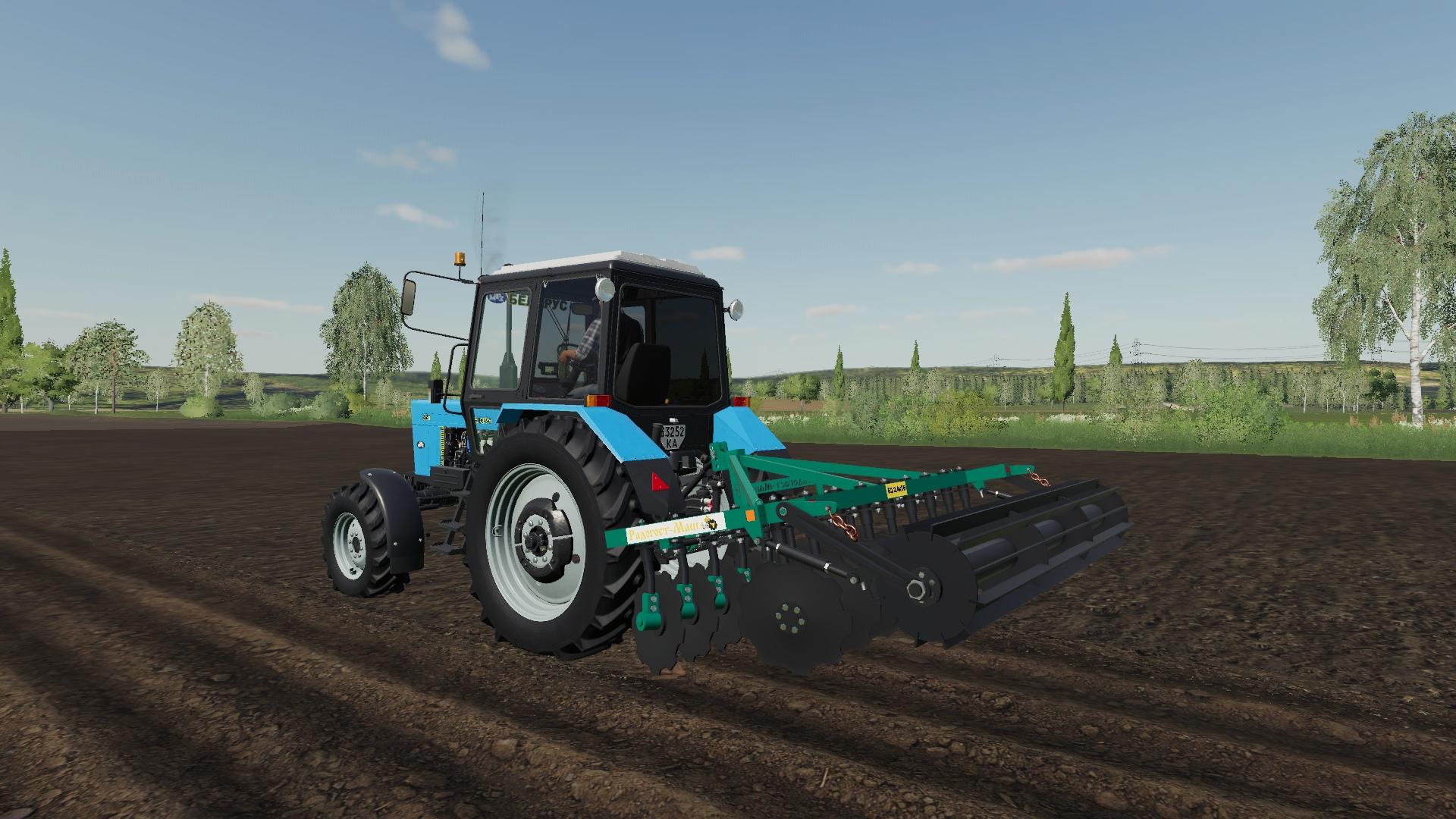 Мод на дисковую борону БД 2.4х2Н для Farming Simulator 2019