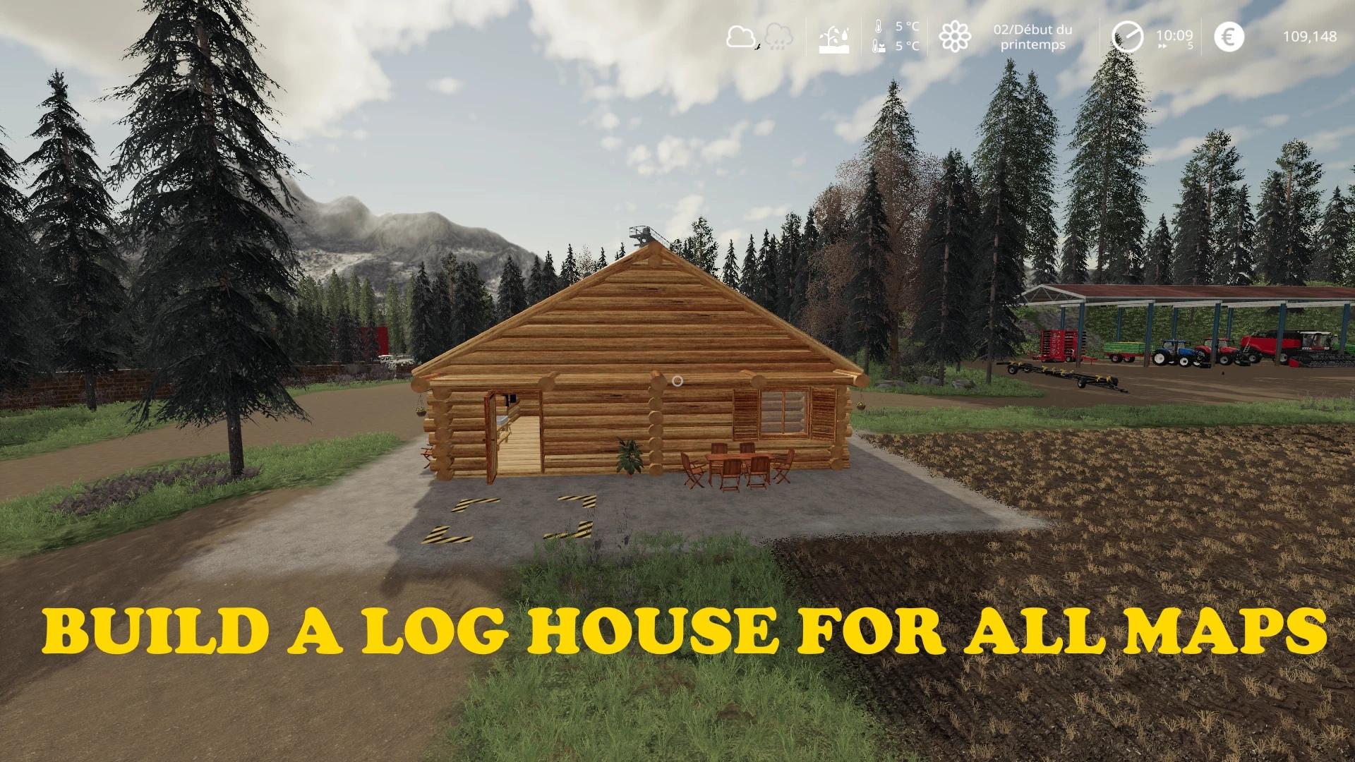 Мод на дом из бревен для Farming Simulator 2019