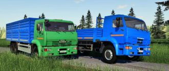 Мод на грузовик Камаз 65117 для Farming Simulator 2019