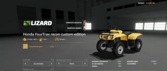 Квадроцикл Honda Fourtrax Recon 2001 для Farming Simulator 2019